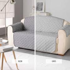 protége canapé protège fauteuil matelassé 279x179 cm microfibre imprimée kiria