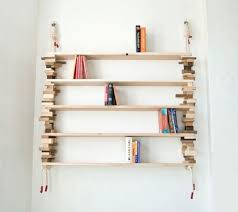 Wood Bookshelves by Natural Bookshelves Made Of Mixed Wood Blocks Digsdigs