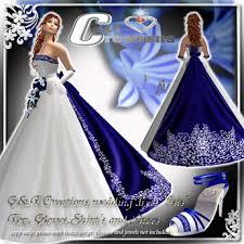 Royal Blue Wedding Second Life Marketplace G U0026t Wedding Dress
