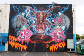 Mural Collaboration by Nychos X Buff Monster New Mural For Pow Wow 2014 Honolulu