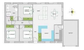 plan maison plain pied 5 chambres décoration plan plain pied 5 chambres 150m2 97 tours plan