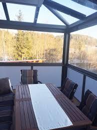 glas balkon balkon mit glas optimaler schutz vor wind regen schnee