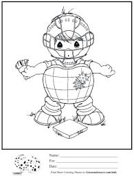kids coloring page precious moments baseball catcher coloring