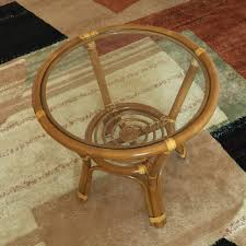 coffee table diana color light brown with glass top handmade eco