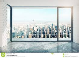 Starville Floor Plan by Empty Room With Big Window Stock Photo Image 24474280