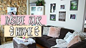 inside our home living room decor haul belinda selene youtube