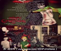 12 days of christmas creepypasta version by thatoneweirdpersonxd
