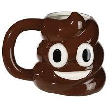 poopy emoticon ceramic mug emoji face drinks coffee tea cup