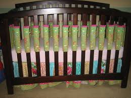Mini Crib Bumper Pads by Slat Covers For The Crib Instead Of A Bumper Pad Padded
