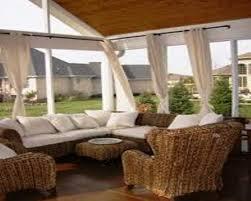 screened in porch furniture ideas porch curtain screened print