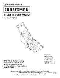 craftsman lawn mower 247 37683 user guide manualsonline com