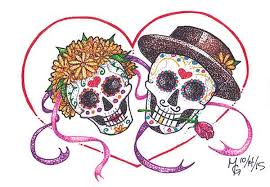 Sugar Skulls For Sale Day Of The Dead Greeting Cards For Sale