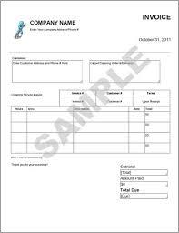 download sample cleaning invoice template rabitah net