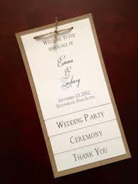 Simple Wedding Program Templates 25 Best Ceremony Program Images On Pinterest Wedding Programmes