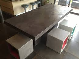 bureau beton ciré table en beton exterieur voor cire newsindo co