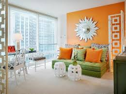 awesome orange paint colors for living room