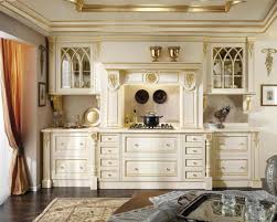 Kitchen Design Classic Classic White Gold Wooden Wardrobe For Kitchen Design With