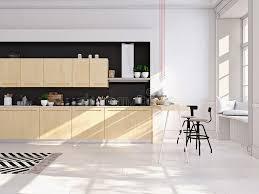 cuisine nordique cuisine nordique moderne en appartement de grenier rendu 3d