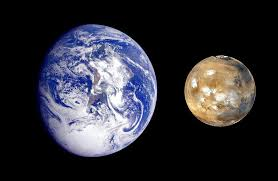 Mars compared to earth universe today