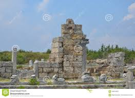 antalya turkey the ancient city of perge ancient roman times