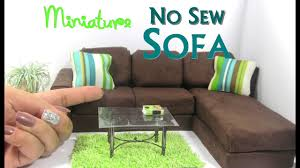 diy no sew modern sectional sofa chaise lounge dollhouse furniture