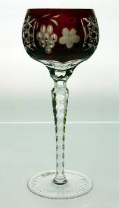 Cut Crystal Vases Antique Home Accessories Grape Cut Crystal Wine Glasses In Various Color