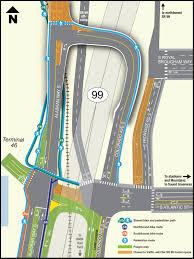 wsdot seattle traffic map wsdot opens bike path atlantic st overpass seattle