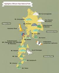 Alps On A Map Minami Alps National Park Guide Of Highlights Moe