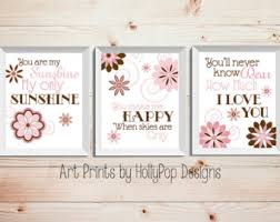 Pink And Brown Nursery Wall Decor Pink Brown Nursery Etsy
