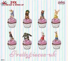 24 x transformers rice paper birthday cake toppers rabbit cake toppers shop rabbit cake toppers online