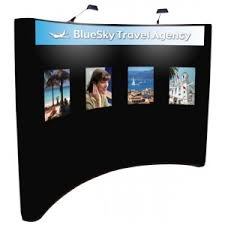 Graphic Panels 10ft Graphic Pop Up Display With Fabric End Panels
