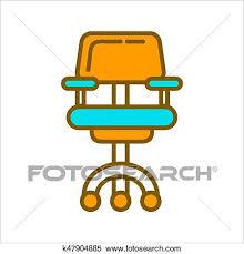 chaise bureau jaune clipart chaise bureau dans bleu et jaune couleurs graphique