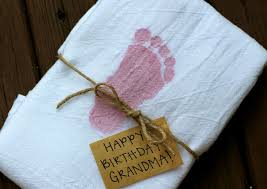 baby footprint ideas baby footprint sted tea towels carolina charm