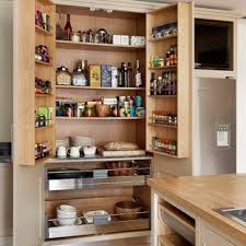 kitchen pantry wood storage cabinets 75 beautiful kitchen pantry with wood countertops pictures