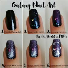 purple galaxy nails with tutorial feat zoya payton space nails 25
