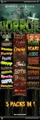 horror and halloween styles bundle by sao108 graphicriver