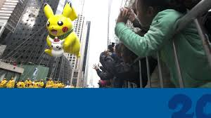 thanksgiving pe games celebrate pokemon20 with the pikachu balloon at the 2016 macy u0027s