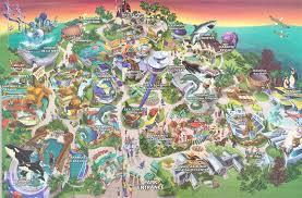 San Diego County Map Theme Park Brochures Sea World San Diego Theme Park Brochures