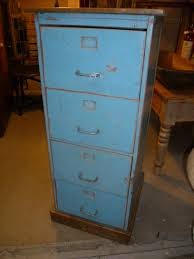 Retro Filing Cabinet Vintage Painted Wooden Filing Cabinet Antiques Blues Pinterest