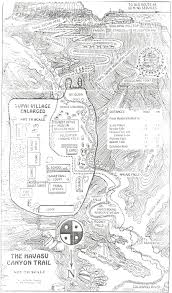 Grand Canyon On A Map Trail Map Havasupai United States Travel Pinterest Trail