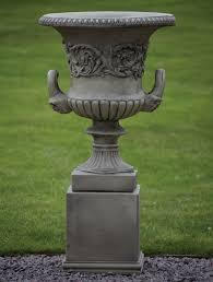 Urn Planters With Pedestal Garden Urns Home Outdoor Decoration