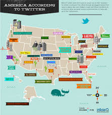 Us Cities Map America According To Twitter U S City Names Remixed Infographic