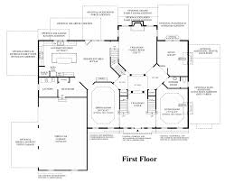 Center Hall Colonial Floor Plans Toll Brothers At Oak Creek The Harding Home Design