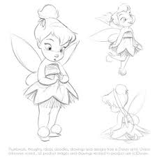30 outline tinkerbell tattoos