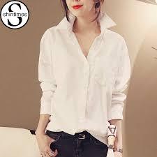 chemise femme white shirt women blouses womens tops 2017 cotton