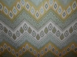 chevron ikat aqua gray gold woven cotton tapestry upholstery home