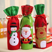 Christmas Decoration With Santa Claus online shop 1pc christmas decorations for home santa claus wine