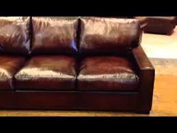 extra deep leather sofa baja leather cameron extra deep leather sofa youtube
