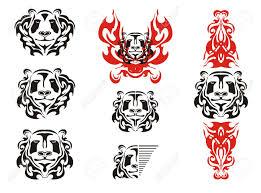 panda tattoos symbols tribal black and white panda