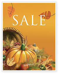 thanksgiving day sale poster template in microsoft word publisher